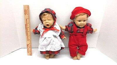 Berenguer Twin Dolls with Outfits Vintage Collectible  Specialty Expressions