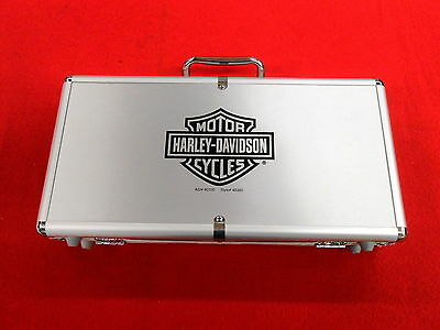 NOS Poker Chip & Playing Cards Carrying Case Padded Box Lockable Lid & 2 Keys