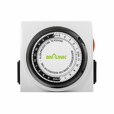 Century Heavy Duty Mechanical Timer Dual Outlet 24 Hours