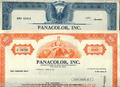 ULTRA RARE MINT MOVIE STOCK (PANACOLOR) ENGRAVED 1957 OUR EXCLUS! BIN is 4 ORANG