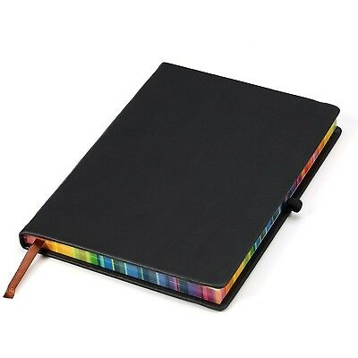 Black Leather Journal / Writing Notebook / Blank Diary / Lined Pages Book - 8...