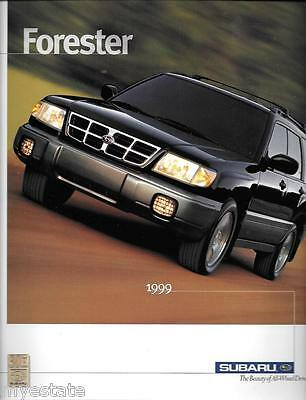 1999 99 Subaru Forester  original sales brochure MINT