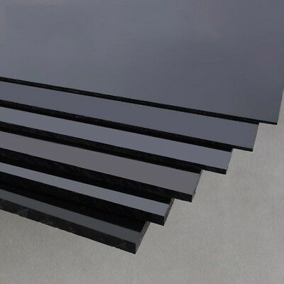 Black ABS Sheets Plastic Plate Board 200x250mm x 1/1.5/2/3/4/5mm For Craft DIY