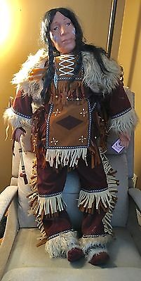 """Jacob Native American Indian Doll Porcelain---Goldenvale Collector Doll 43"""""""