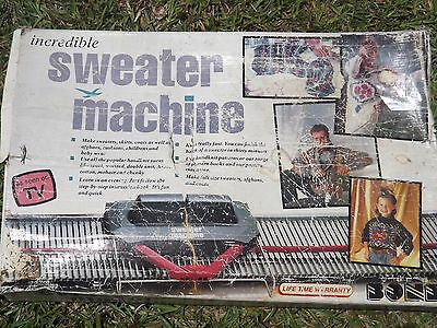 BOnd Ultimate Incredible Sweater Machine Made in England VHS Manual All parts!