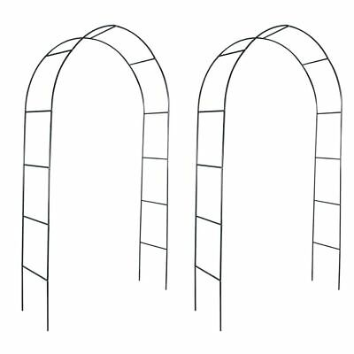 Iron Garden Arch for Climbing Plants and Roses 2pcs Garden Gate Archway