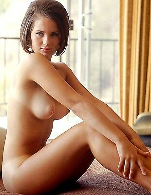 1970s Nude pinup Perfect D Breasts sitting at Patio Doors  8 x 10 Photograph