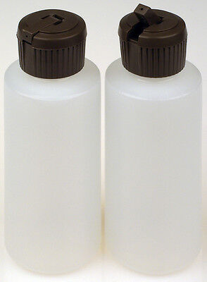 Plastic Bottles w/Applicator Lids, 2-oz. 100-Pack, New