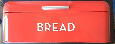 Large Orange Bread Box for Kitchen Countertop - With Dent In Lid