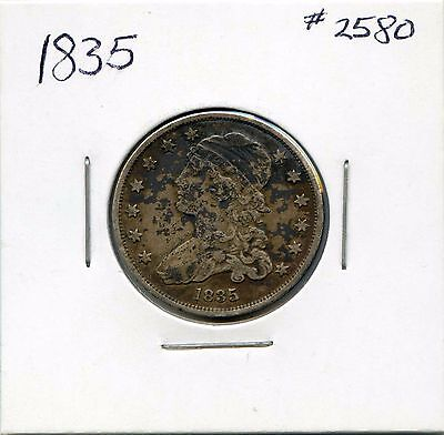 1835 25C Capped Bust Silver Quarter. Circulated. Lot #2299
