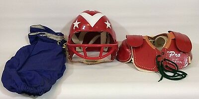 Vintage Football Uniform Helmet Pads Jersey Pants by Pal Size Small with Box