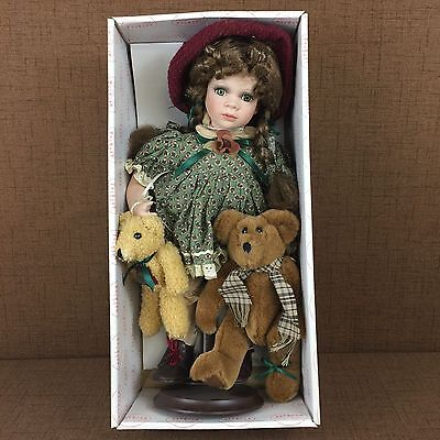 "Vintage Sheridan Porcelain Doll Collectible Show Stoppers Hand Painted 15"" New"