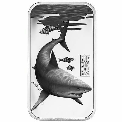 Great White Shark 1oz Silver Proof Coin! Apex Predators 2016 $1 Cook Islands