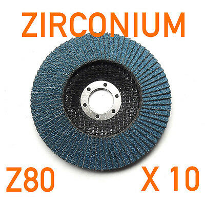 X 10 Lot 125mm (12.7cm) X 22.2mm Zirconium Disques à Lamelle