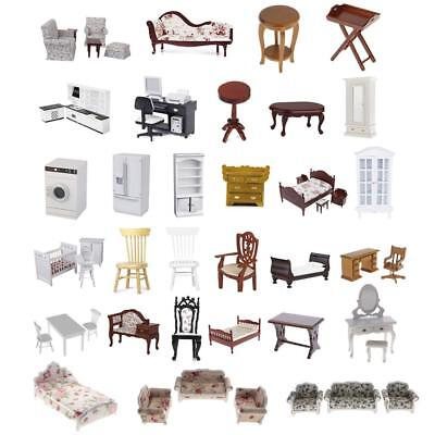 Mini Highly Detailed Dolls House Furniture Set 1:12 Scale Dollhouse Miniatures