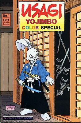 Usagi Yojimbo Color Special Number 1 - with Fantagraphics Books catalogue - 1989