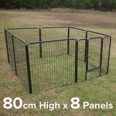 80cm Height 8 Panels Galvanised Pen Run for Dog Chicken Chook Rabbit Cat
