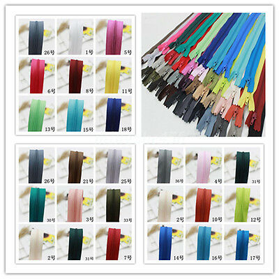 """10Pcs Nylon Coil Zippers Tailor Sewer Craft Wallet Trousers Crafter DIY Tools 8"""""""