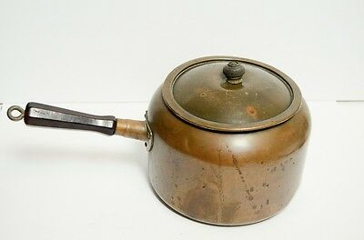Vintage Lidded Copper Kettle Pot Revere Ware Rome NY