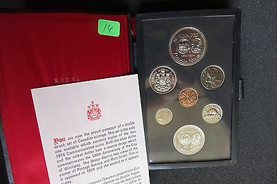 1974 Canada Proof Set 7 Beautiful GEM Coins In Presentation Case