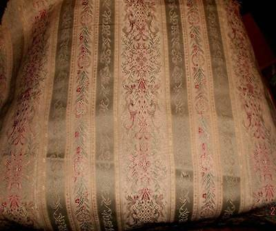 Vintage silk French lisere brocade fabric for pillow or dining chair seat cover~