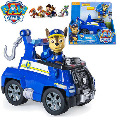 Paw Patrol Basic Vehicles Chase's Tow Truck Pup Dog Action Figure Kid Toy