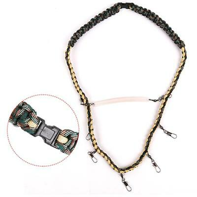 Paracord Fly Fishing Lanyard Holder Neck Strap Cord Fishing Tackle Tool