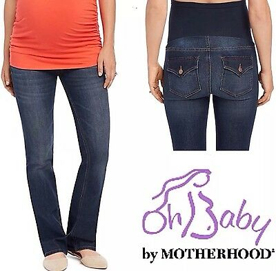 New OH BABY MATERNITY Bootcut Jeans PS PM PL PXL MOTHERHOOD Secret Fit Belly $60