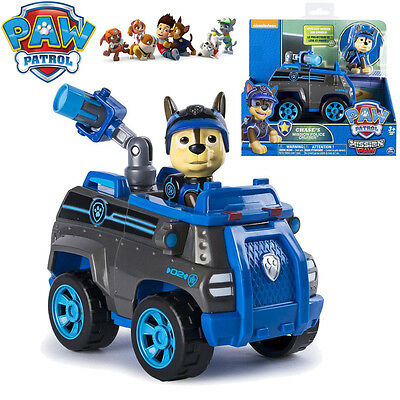 Paw Patrol Vehicles Chase's Mission Police Cruiser Pup Dog Action Figure Kid Toy