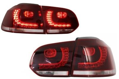 VW Golf 6 MK6 VI GTI R20 LED Rear Lights Red Clear Taillights R-Line R Design