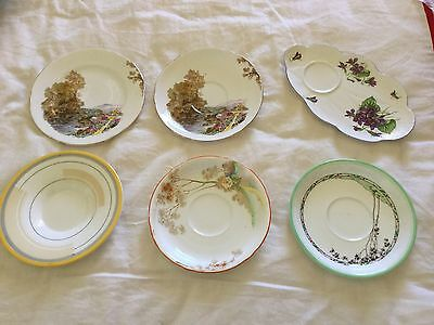 Assorted Vintage Shelley Odd Saucers and Plates