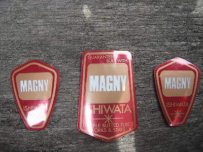 Magny Ishiwata Bike Bicycle Fork & Frame Decals Stickers Set Not Remade!