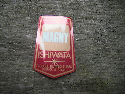 Magny Ishiwata Bike Bicycle Tube Frame Decal Sticker Vintage Not Remade!