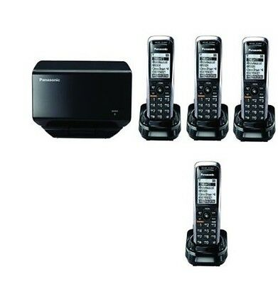 New Panasonic KX-TGP500 SIP DECT VoIP Cordless Phone System With 4 Handsets