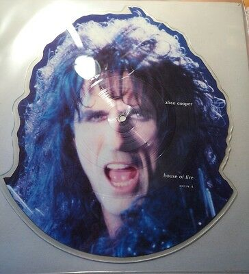 Alice Cooper - House Of Fire - 1989 Cbs Limited Edition Shaped Picture Disc