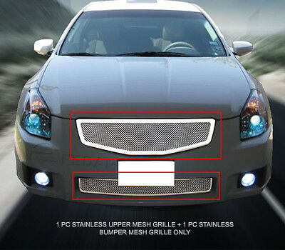 Stainless Steel Mesh Grille Front Grill Combo Insert For Nissan Maxima 2007-2008