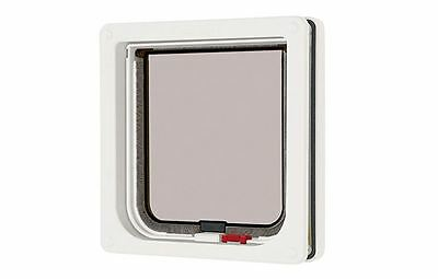 Pet Mate Lockable Cat Flap White, Thin Panel Doors Screens Magnetic Weatherproof