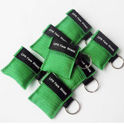 100pcs One-way Valve CPR MASK WITH KEYCHAIN CPR FACE SHIELD For AED First AID