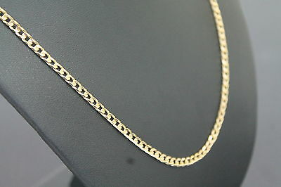 Men's 9K Solid Yellow Gold Curb Link Chain Necklace 9.4 Grams