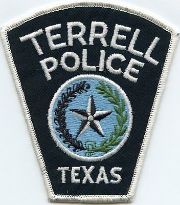Terrell Texas Tx Police Patch