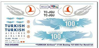 PAS Decals PAS045 Boeing 737-800 Turkish Airlines 100 Years 1/144