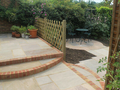 Raj Green Indian Sandstone Paving - Calibrated Patio Flags Garden Slabs 19m2