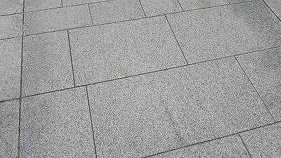 Natural Granite Paving Silver Grey 600x600 - 48 Slabs Per Pack Sawn Paving 18m2