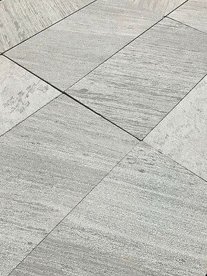 Lincoln Grey Sawn Marble Paving Slabs -600x600(16.3m2Pack) Garden Paving
