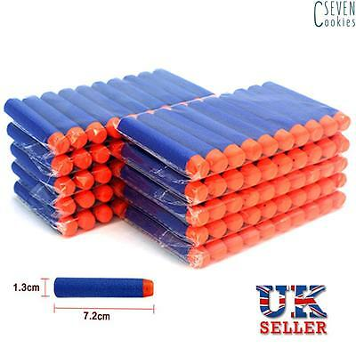 120pcs Nerf Gun Soft Refill Bullets Darts Round Head Blasters For N-Strike Toy