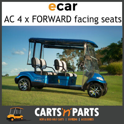 Ecar AC POWER 4 Forward Facing Seats NEW GOLF CART Buggy 627 Series Full Deluxe