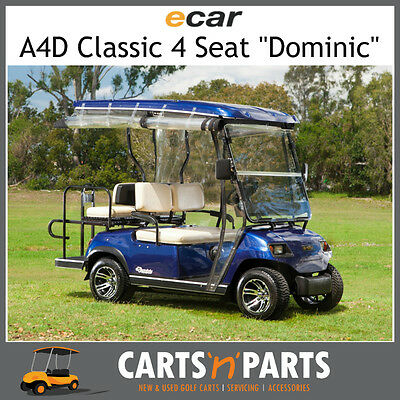 Ecar A4D DOMINIC Classic 4 Seat NEW GOLF CART Buggy Burgundy