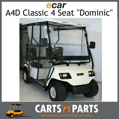 Ecar A4D DOMINIC Classic 4 Seat NEW GOLF CART Buggy White