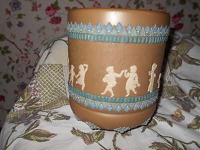 Antique Doulton Lambeth Silicon Art Pottery Jardiniere C.1881~Signed~Spectacular