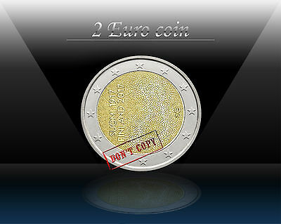 FINLAND 2 EURO 2017 (100 anni INDEPENDANCE) Comm. Bi-Metallic Coin UNCIRCULATED